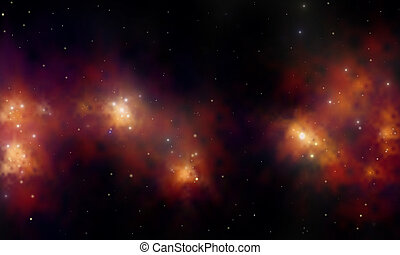 stardust - red space nebular