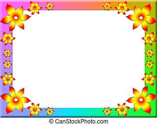 Multi-colored frame