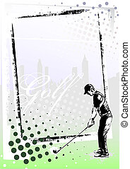 golf frame 2 - illustration of the golfer