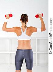 mujer, ejercicio, condición física