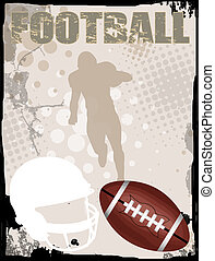 American football background - American football grungy...