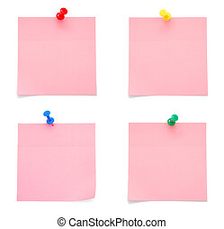 Blank Pink Paper Notes