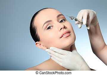 botox - Beauty therapeutical female skin juventation.