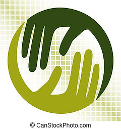 Natural caring hands design.