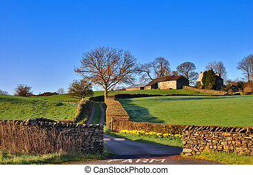 Lake District Farm - A farm near Staveley in the English...