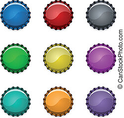 Bottle caps - Blank bottle caps with place for Your text or...