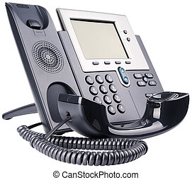 IP telephone off-hook - IP telephone set, off-hook, isolated...