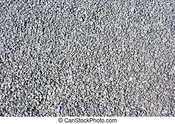 grey macadam as texture and background