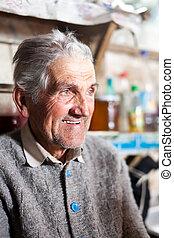 Senior farmer indoor