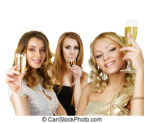 Group of women with champagne