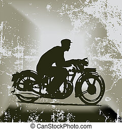 Vintage Motorcycle Vector Background