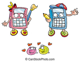 calculators him her lively and animated divided