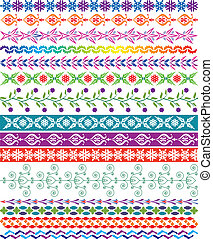 vector colorful decorative borders