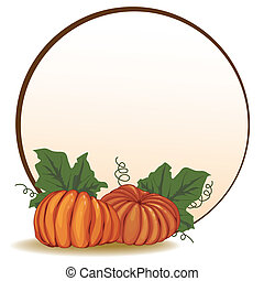 pumpkins - autumnal vector banner with pumpkins