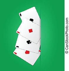 Poker ases. Vector illustration. Eps10