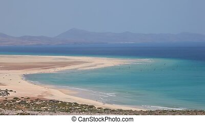 Fuerteventura beach - Beach Playa de Sotavento on Canary...