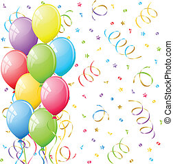 Balloons - Bunch of Colorful party balloons Vector...