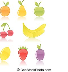 Fruit icons.