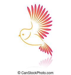 Parrot. Vector illustration.