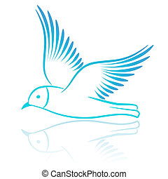 Seagull. Vector illustration.