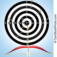 target and arrow - on a background target, in which instead...