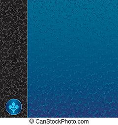 Retro Blue Ornaments Background
