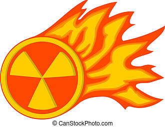 Radiation flame Vector