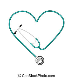 Image of stethoscope isolated on white background.