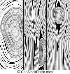 Wood texture - Illustration of the texture of wood as black...