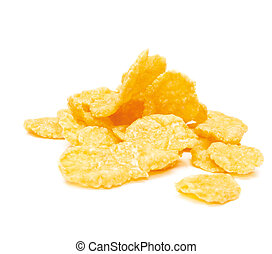 Cornflakes isolated on the white background