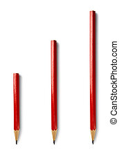 Pencils isolated on the white background