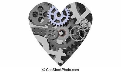 mechanical heart - Abstract cartoon movie - mechanical heart