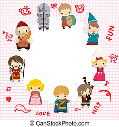 cartoon Medieval people card