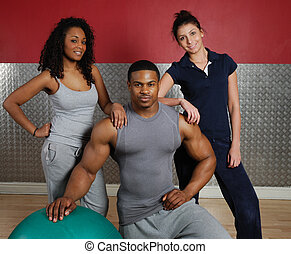 Fitness training team - This is an image of a fitness gym...