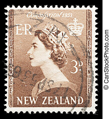 Elixabeth II coronation stamp