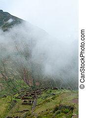 Incas livings near Pisac, Peru - The picture of the Incas...