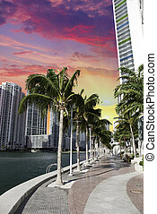 Miami Beach Buildings and Colors, USA - Miami Beach...