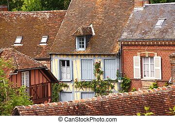 old house in medieval village