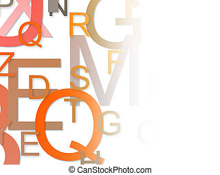 alphabet background - Colorful alphabet background on white...