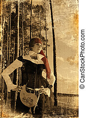 Old style photo of female pirate