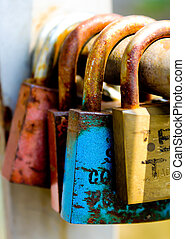 Padlocks - Some coloured padlock