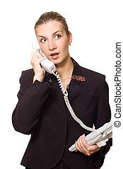 Astonished telephone operator