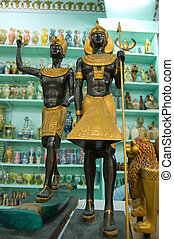 Egypt statue in gift shop