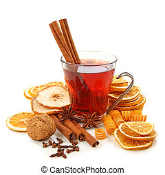 Winter hot drink with spices