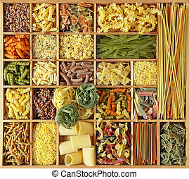 pasta, Kollektion, italiensk
