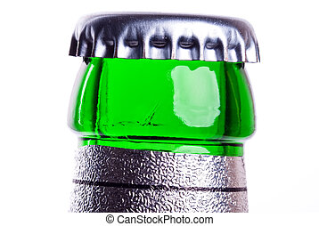 bottleneck - a green bottleneck of a beer bottle in front of...