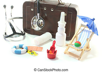 first aid kit - First aid kit with Bags, Stethoscope and...