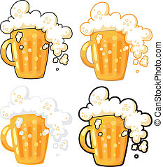 beer - illustration collection of lager beer