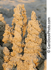 Dripped Sand Castle - Morning light on a dripped sand...