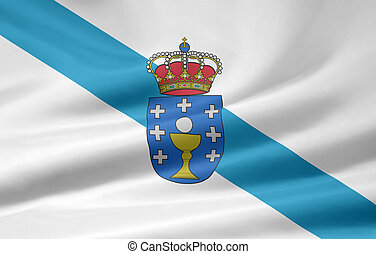 Flag of Galicia - Spain - High resolution flag of Galicia